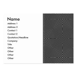Sleek, stylish, black and white design. large business cards (Pack of 100)