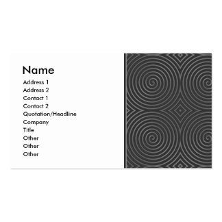 Sleek, stylish, black and white design. Double-Sided standard business cards (Pack of 100)