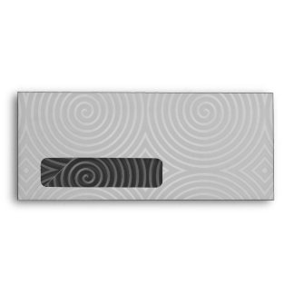 Sleek, stylish, black and white design. envelopes
