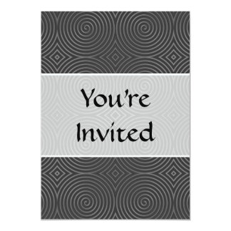 Sleek, stylish, black and white design. 5x7 paper invitation card