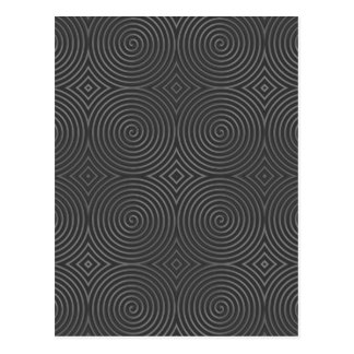 Sleek, stylish, black and white design. postcard