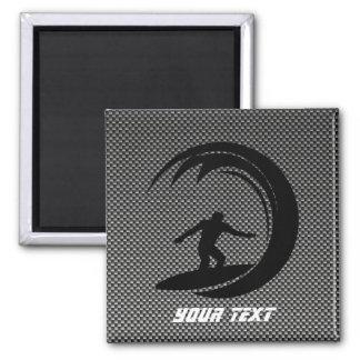 Sleek Surfing 2 Inch Square Magnet