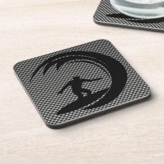 Sleek Surfing Beverage Coaster