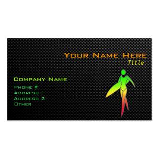 Sleek Surfing Girl Business Cards