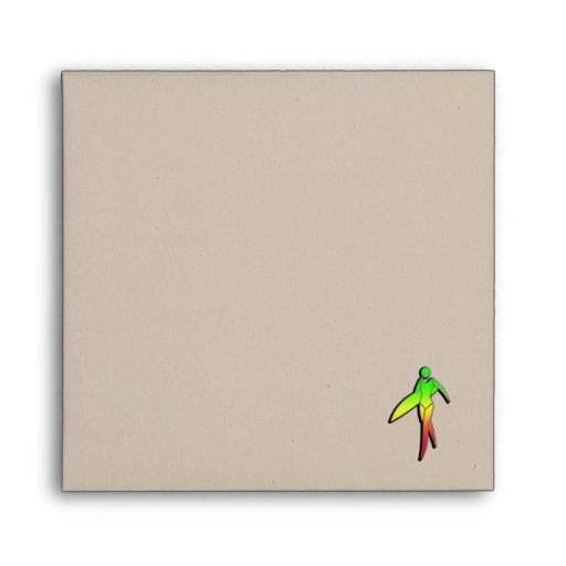 Sleek Surfing Girl Envelope