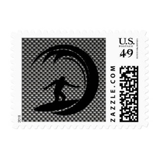 Sleek Surfing Postage Stamp