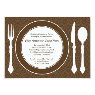 Sleek Tabletop Corporate Party Invitation - Brown