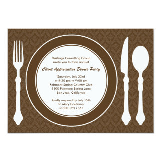 Sleek Tabletop Corporate Party Invitation - Brown