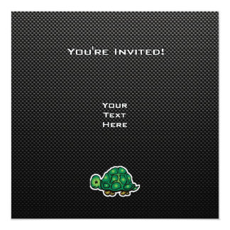 """Sleek Turtle 5.25"""" Square Invitation Card"""