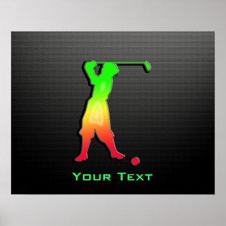 Sleek Vintage Golfer Posters