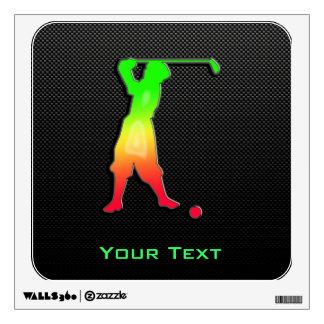Sleek Vintage Golfer Wall Skin