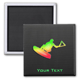 Sleek Wakeboarder 2 Inch Square Magnet