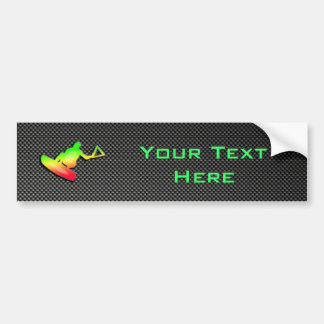 Sleek Wakeboarder Bumper Sticker