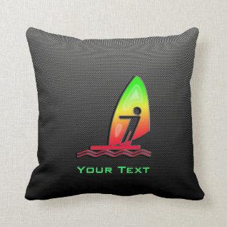 Sleek Windsurfing Throw Pillows