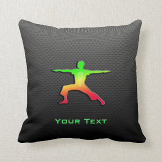 Sleek Yoga Throw Pillow