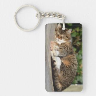 Sleely kitty keychain