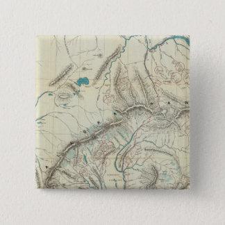 Sleem's Map of Central Alaska Pinback Button