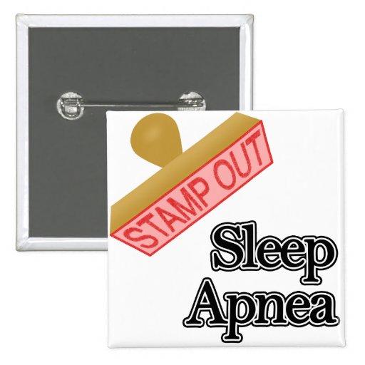 Sleep Apnea 2 Inch Square Button