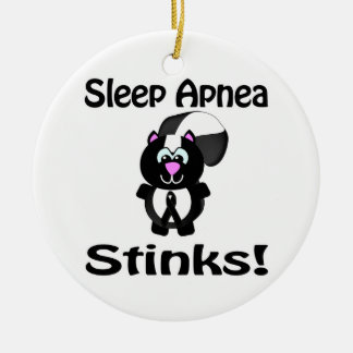 Sleep Apnea Stinks Skunk Awareness Design Christmas Ornaments