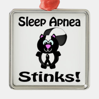 Sleep Apnea Stinks Skunk Awareness Design Ornament