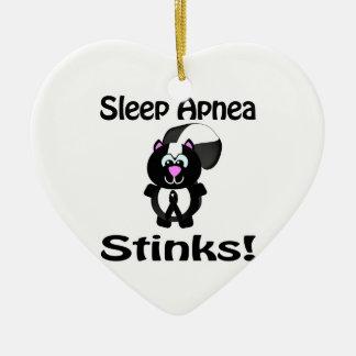 Sleep Apnea Stinks Skunk Awareness Design Christmas Tree Ornament