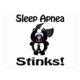 Sleep Apnea Stinks Skunk Awareness Design Postcard