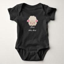 Sleep baby sheep baby bodysuit