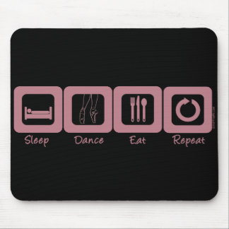 Sleep Ballet Eat Repeat Mouse Pad
