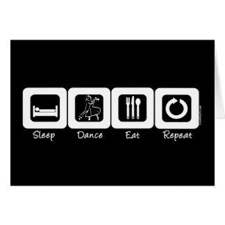 Sleep Ballroom Eat Repeat Card