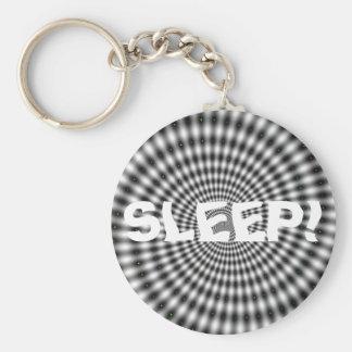 SLEEP! BASIC ROUND BUTTON KEYCHAIN