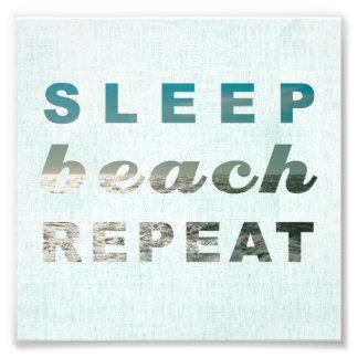 SLEEP BEACH REPEAT PHOTO PRINT