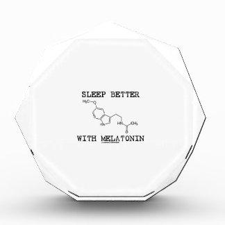 Sleep Better With Melatonin (Chemical Molecule) Acrylic Award
