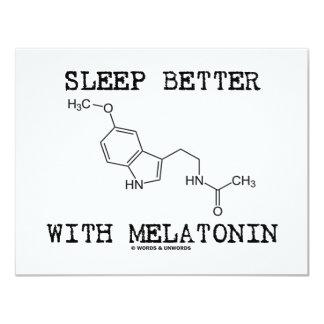 Sleep Better With Melatonin (Chemical Molecule) Card