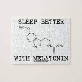 Sleep Better With Melatonin (Chemical Molecule) Jigsaw Puzzle