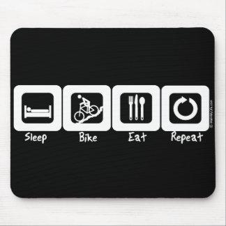 Sleep Bike Eat Repeat Mouse Pad