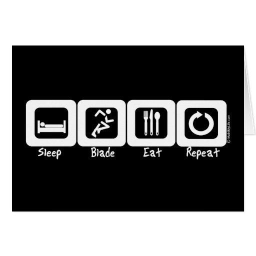 Sleep Blade Eat Repeat Greeting Card