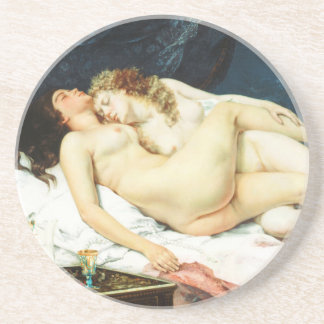 Sleep by Gustave Courbet Drink Coaster