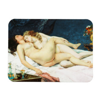 Sleep by Gustave Courbet Rectangular Photo Magnet