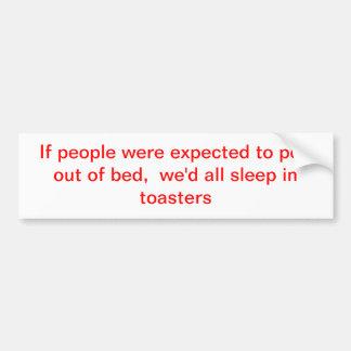 sleep car bumper sticker