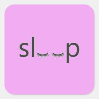 SLEEP CUTE GIRLY GRAPHIC GOODNIGHT SQUARE STICKER