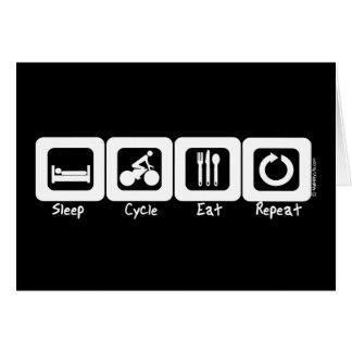 Sleep Cycle Eat Repeat Card