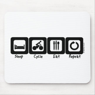 Sleep Cycle Eat Repeat Mouse Pad