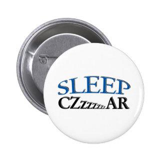 Sleep Czzzzzar 2 Inch Round Button