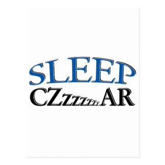 Sleep Czzzzzar Postcard