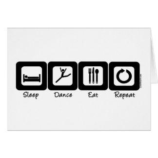 Sleep Dance Eat Repeat Card