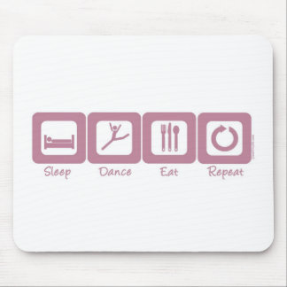 Sleep Dance Eat Repeat Mouse Pad