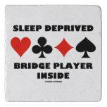 Sleep Deprived Bridge Player Inside Card Suits Trivet