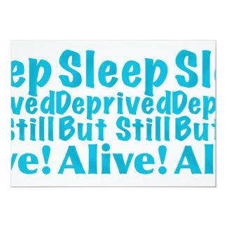 Sleep Deprived But Still Alive in Blue Card