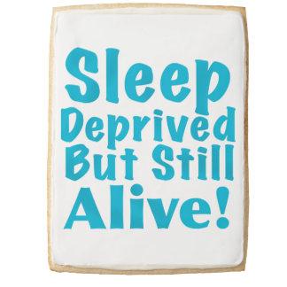 Sleep Deprived But Still Alive in Blue Shortbread Cookie