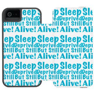 Sleep Deprived But Still Alive in Blue Wallet Case For iPhone SE/5/5s
